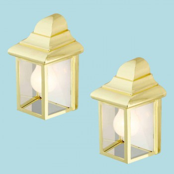 2 Outdoor Lighting Bright Brass Light Outdoor Light Outside Light Outdoor Lights