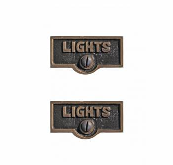 Switchplate Tag Antique Solid Brass Lights LIGHTS Switch Tag Antique B