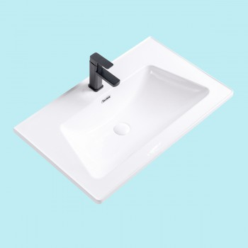 White SelfRimming Dropin Rectangular Bathroom Sink Renovators Supply White Drop In Sink Dropin Bathroom Sink Drop In Rectangular Bathroom Sink