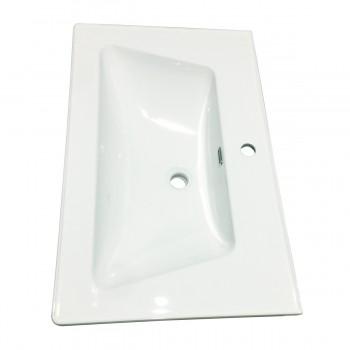 White SelfRimming Dropin Rectangular Bathroom Sink Renovators Supply White Drop In Sink Dropin Bathroom Sink Drop In Rectangular Bathroom Sink