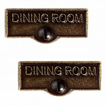 2 Switchplate Antique Brass Solid Brass Dining Room DINING ROOM Switch T