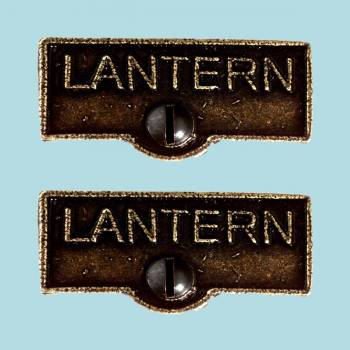 <PRE>2 Switch Plate Tags LANTERN Name Signs Labels Cast Brass </PRE>zoom2