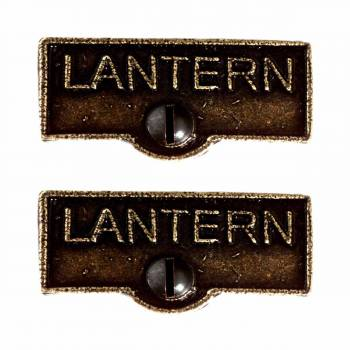 <PRE>2 Switch Plate Tags LANTERN Name Signs Labels Cast Brass </PRE>zoom1