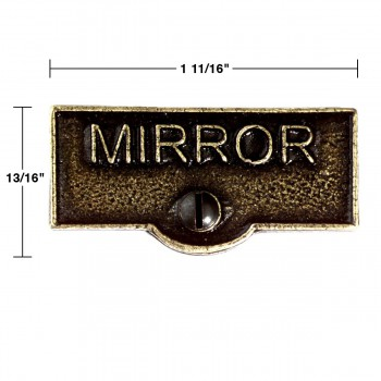 spec-<PRE>2 Switch Plate Tags MIRROR Name Signs Labels Cast Brass </PRE>