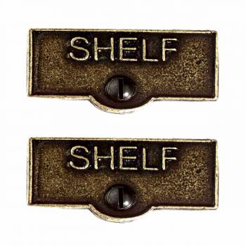 <PRE>2 Switch Plate Tags SHELF Name Signs Labels Cast Brass </PRE>zoom1