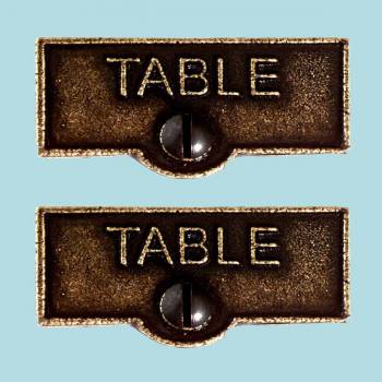 <PRE>2 Switch Plate Tags TABLE Name Signs Labels Cast Brass </PRE>zoom2