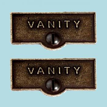 <PRE>2 Switch Plate Tags VANITY Name Signs Labels Cast Brass </PRE>zoom2