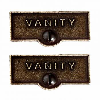 <PRE>2 Switch Plate Tags VANITY Name Signs Labels Cast Brass </PRE>zoom1