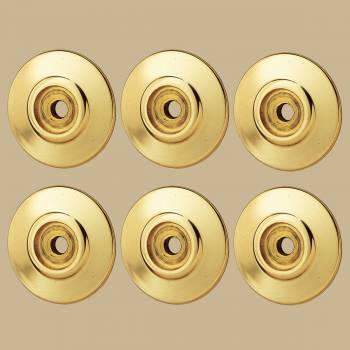 <PRE>6 Cabinet Knob Rosettes Bright Solid Brass 1 1/4inch  </PRE>zoom2