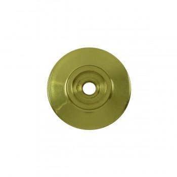 <PRE>6 Cabinet Knob Rosettes Bright Solid Brass 1 1/4inch  </PRE>zoom3
