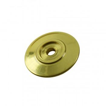 <PRE>6 Cabinet Knob Rosettes Bright Solid Brass 1 1/4inch  </PRE>zoom4