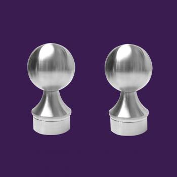 2 Ball End Cap Handicap Bar Foot Rail Stainless Steel Pack of 2 Tubing End Caps End Caps for Tubing Railing Caps