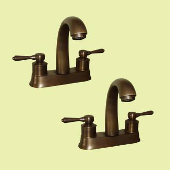 <PRE>Faucet Antique Brass Classic Bathroom Sink Centerset 2 Lever Pack of 2</PRE>