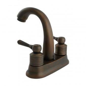 Faucet Antique Brass Classic Bathroom Sink Centerset 2 Lever Pack of 2 Centerset Faucet Center set Faucet Bathroom 4 Sink Faucet