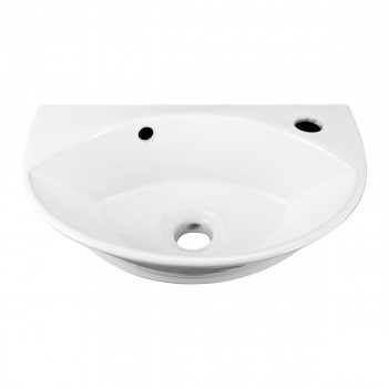 <PRE>2 Wall Mount Porcelain Sink Single Hole Faucet NOT INCLUDED </PRE>zoom4