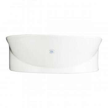 <PRE>2 Wall Mount Porcelain Sink Single Hole Faucet NOT INCLUDED </PRE>zoom6