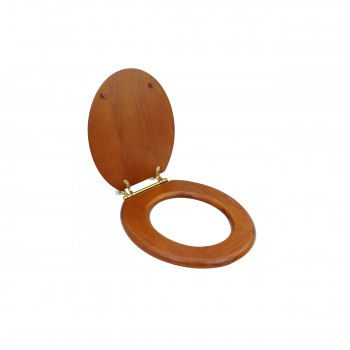Solid Wood Toilet Seat Round Mahogany Stained Brass Hinge Toilet Seat Round Toilet Seat Hard Wood Toilet Seats