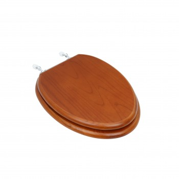 Toilet Seats Elongated Lt Mahogany Hardwood Toilet Seat Chrome Hinge