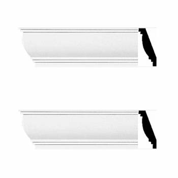 <PRE>2 Cornice White Urethane 4 1/4inch H Waterbury Simple Set of 2</PRE>zoom1