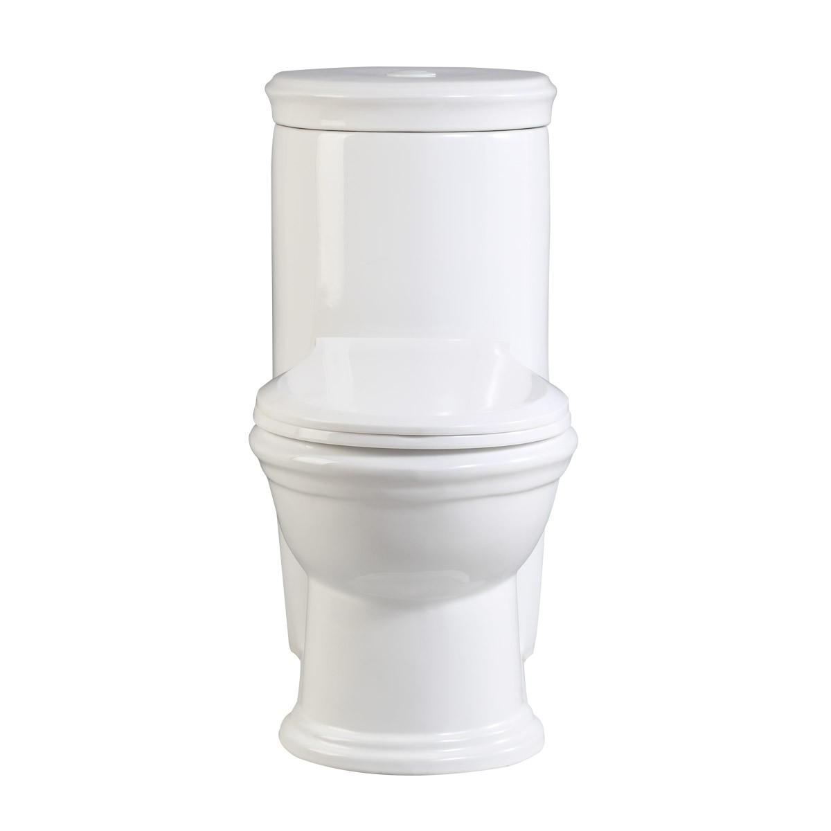 Children Child Kid One Piece Push Button Flush Bathroom Potty Training Toilet