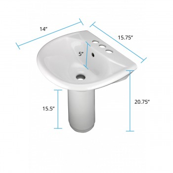 spec-<PRE>Child China White Mini Porcelain Pedestal Sink Toddler Set of 2</PRE>
