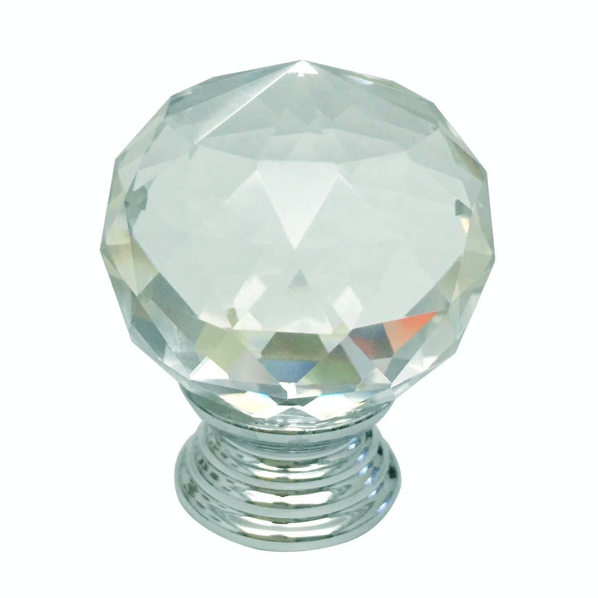 Clear Glass Cabinet Knobs 30mm Round, 1.5 inch projection 20 pcs Cabinet knobs Clear glass Round