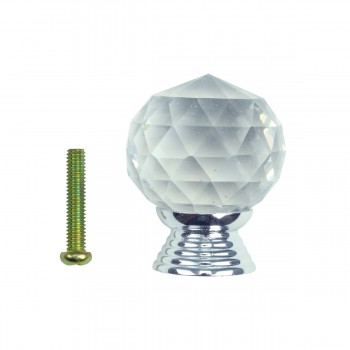 <PRE>Clear Glass Cabinet Knobs 30mm Round, 1.5 inch projection 20 pcs </PRE>zoom8