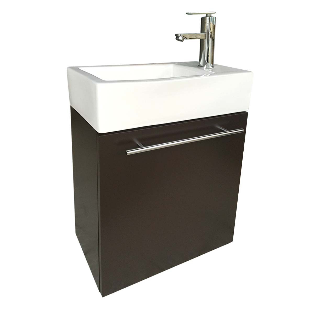 Small wall mounted bathroom sinks - Small Wall Mount Bathroom Cabinet Vanity Square Vessel Sink