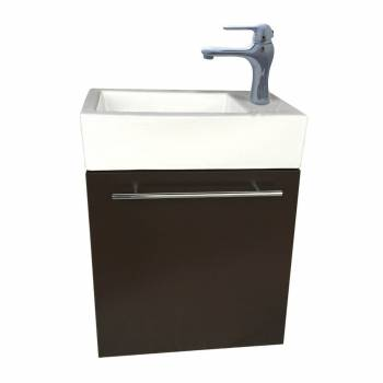 Small Wall Mount Bathroom Cabinet Vanity Square Vessel Sink 31946grid