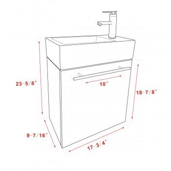 spec-<PRE>Small Wall Mount Bathroom Cabinet Vanity Square Vessel Sink </PRE>