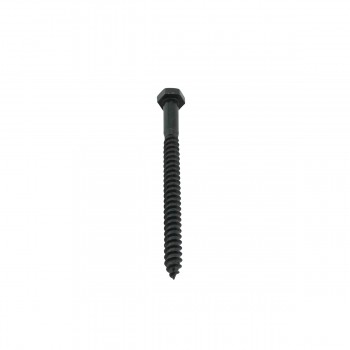 Black Zinc Plated Steel Lag Bolt 516 Inch x 4 Inch Pack Of 10 Lag Bolt Black Lag Bolt Zinc Lag Bolt