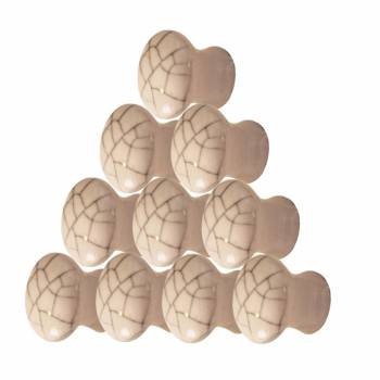 <PRE>10 Cabinet Knobs Porcelain Pull Crazed 3/4 D  </PRE>