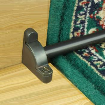 Oil Rubbed Bronze Carpet Rod Set for Stairs
