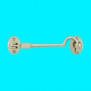 Renovators Supply Cabin Eye Hook Lock Polished Nickel 4 Length Cabin Hook Nickel Cabin Hook Cabin Hook And Eye Hooks