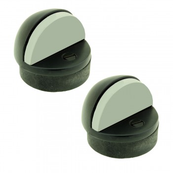 Matte Black Floor Door Stopper Pack of 2