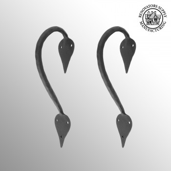 <PRE>2 9inch Door Handle Pull Wrought Iron &quot;Inverted Spade&quot; Design</PRE>zoom2