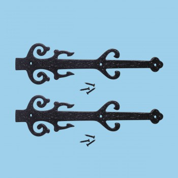 12 Wrought Iron Dummy Hinge Poseidon Design Pack of 2 Black Decorative Dummy Hinge Fleur De Lis Dummy Hinge Black Iron Decorative Dummy Hinge