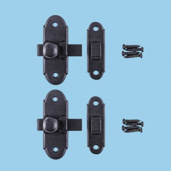 "<PRE>Classic Slide Style Cabinet Latch Wrought Iron 3inchH x 1.25"" W </PRE>zoom2"