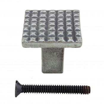 <PRE>Square Grid Iron Cabinet Knob Pewter Finish Pack of 2</PRE>