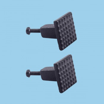 <PRE>Square Grid Iron Cabinet Knob Black Pack of 2</PRE>zoom2
