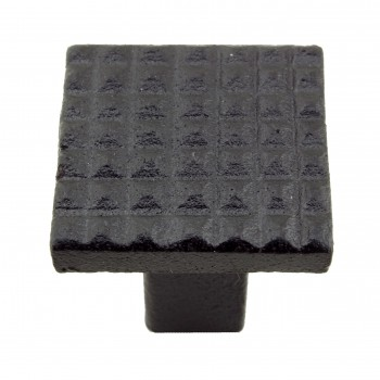 <PRE>Square Grid Iron Cabinet Knob Black Pack of 2</PRE>zoom3