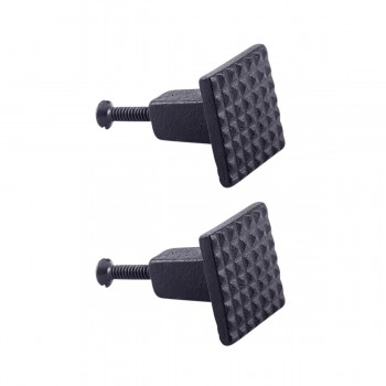 <PRE>Square Grid Iron Cabinet Knob Black Pack of 2</PRE>zoom1
