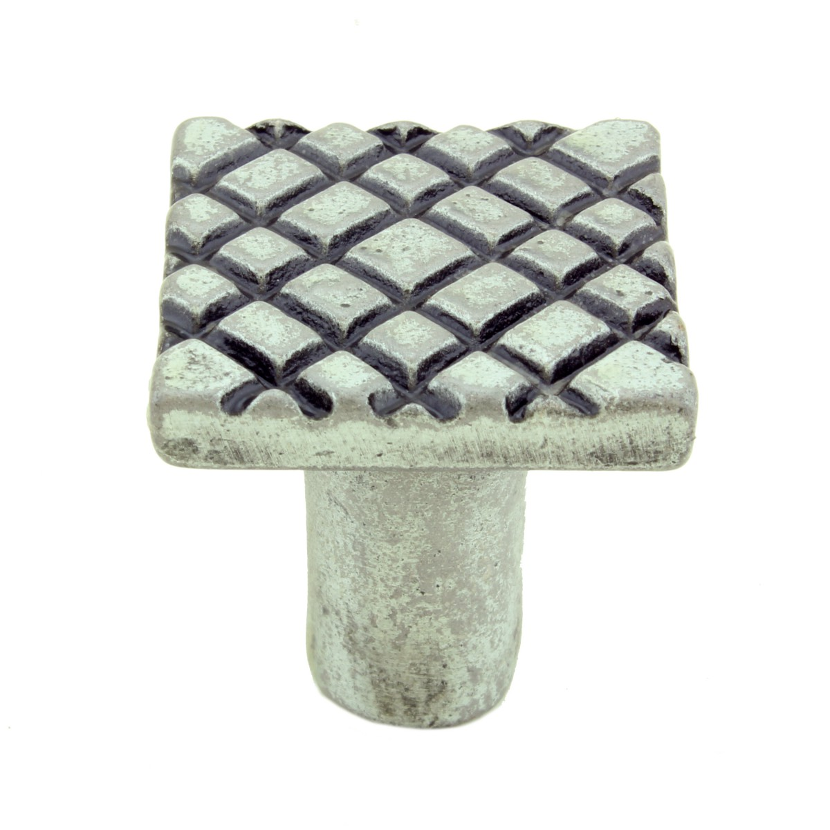 Iron Cabinet Knob Pewter Finish Square Diamond Cabinet Hardware Pack of 2 Cabinet Knob Cabinet Hardware Iron Cabinet Knob
