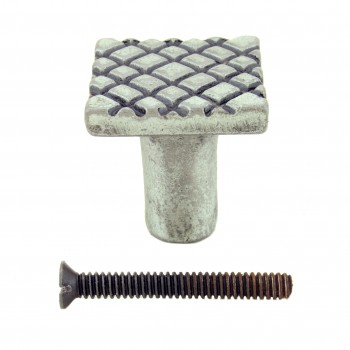<PRE>Iron Cabinet Knob Pewter Finish Square Diamond Cabinet Hardware Pack of 2</PRE>zoom3