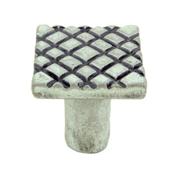 <PRE>Iron Cabinet Knob Pewter Finish Square Diamond Cabinet Hardware Pack of 2</PRE>zoom4