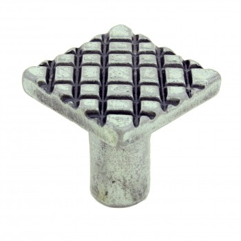 <PRE>Iron Cabinet Knob Pewter Finish Square Diamond Cabinet Hardware Pack of 2</PRE>zoom5
