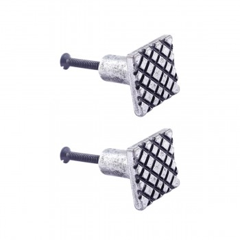 <PRE>Iron Cabinet Knob Pewter Finish Square Diamond Cabinet Hardware Pack of 2</PRE>zoom1