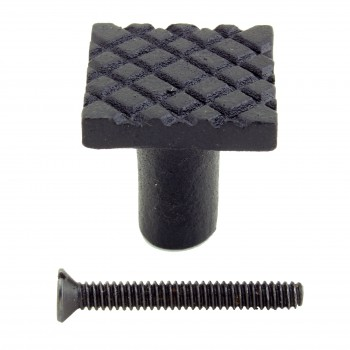 <PRE>Square Diamond Grid Iron Cabinet Knob Black Pack of 2</PRE>zoom7