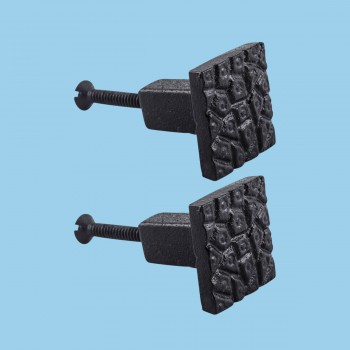 <PRE>Cobble Stone Design Cabinet Hardware Square Iron Cabinet Knob Black Pack of 2</PRE>zoom2