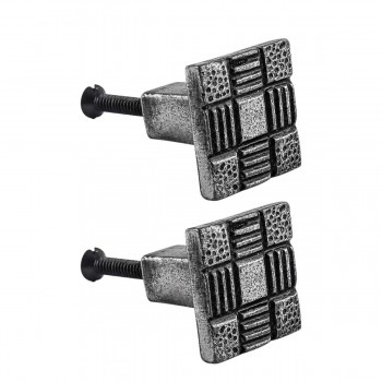 Iron Cabinet Drawer Pulls Square Aztec Pewter Finish Cabinet Hardware Pack Of 2 Cabinet Knobs and Pulls Cabinet Drawer Pulls Cabinet Door Pulls